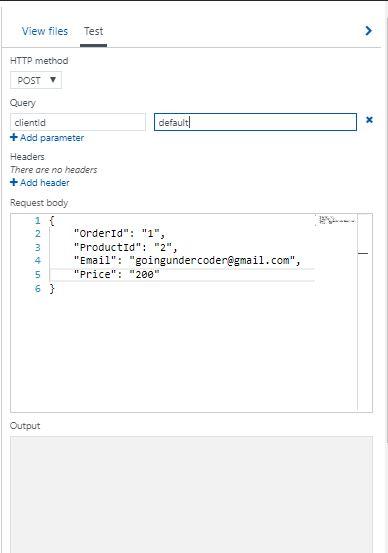 Azure Functions Coding Testing